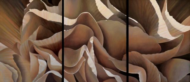 Carnation 18-Triptych, 24x54 (Sold)