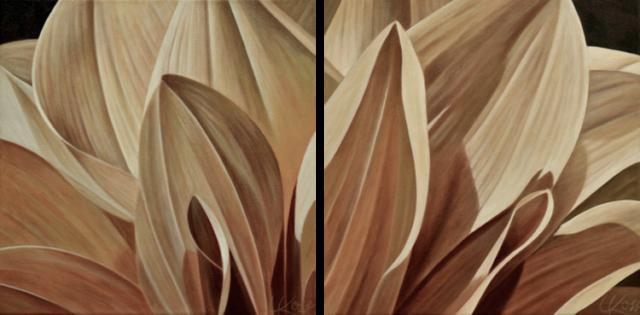 Dahlia 5-Diptych, 12x24