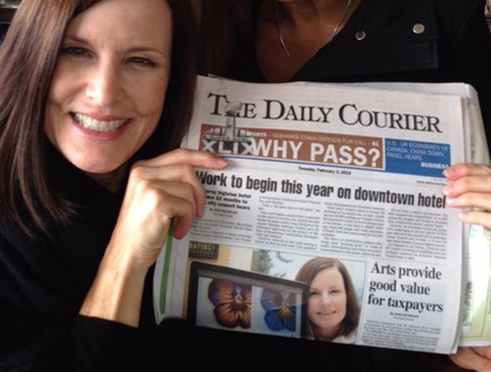Front cover of the Kelowna Daily Courier, February 2, 2015