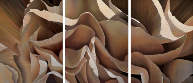 Carnation 18-Triptych, 24x54 (Sold)