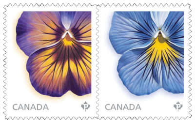 2015 Flower Series Stamps for Canada Post by Canadian floral artist, Laurie Koss