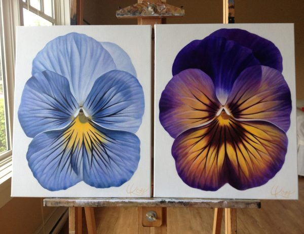 Original paintings in Laurie's Kelowna studio, waiting to be shipped to Canada Post. Fall, 2014