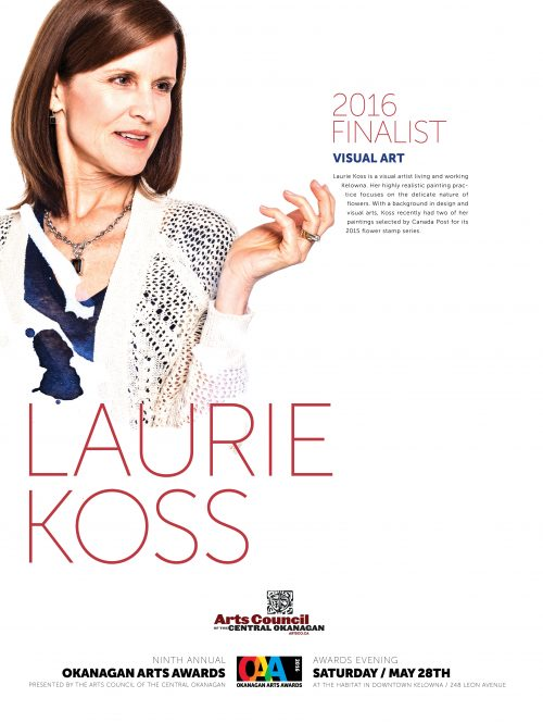 Laurie Koss - Okanagan Arts Awards 2016 Finalist